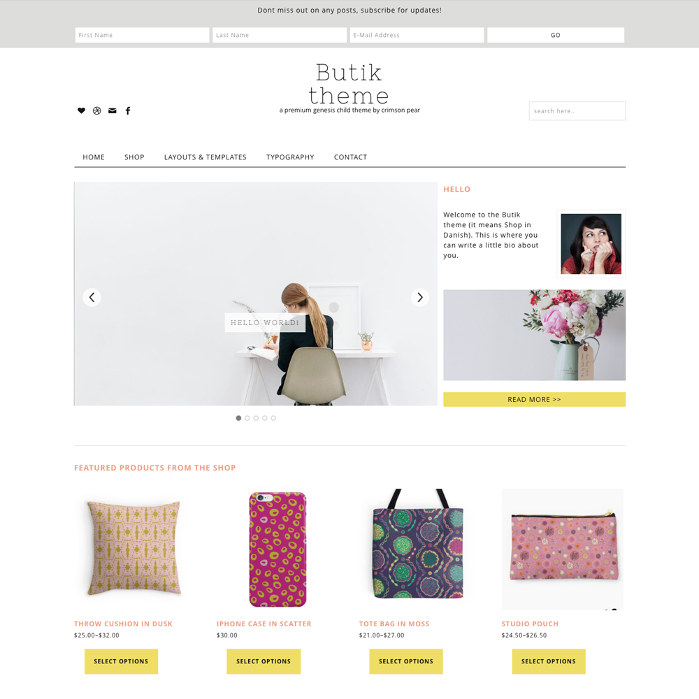 Butik eCommerce Genesis child theme