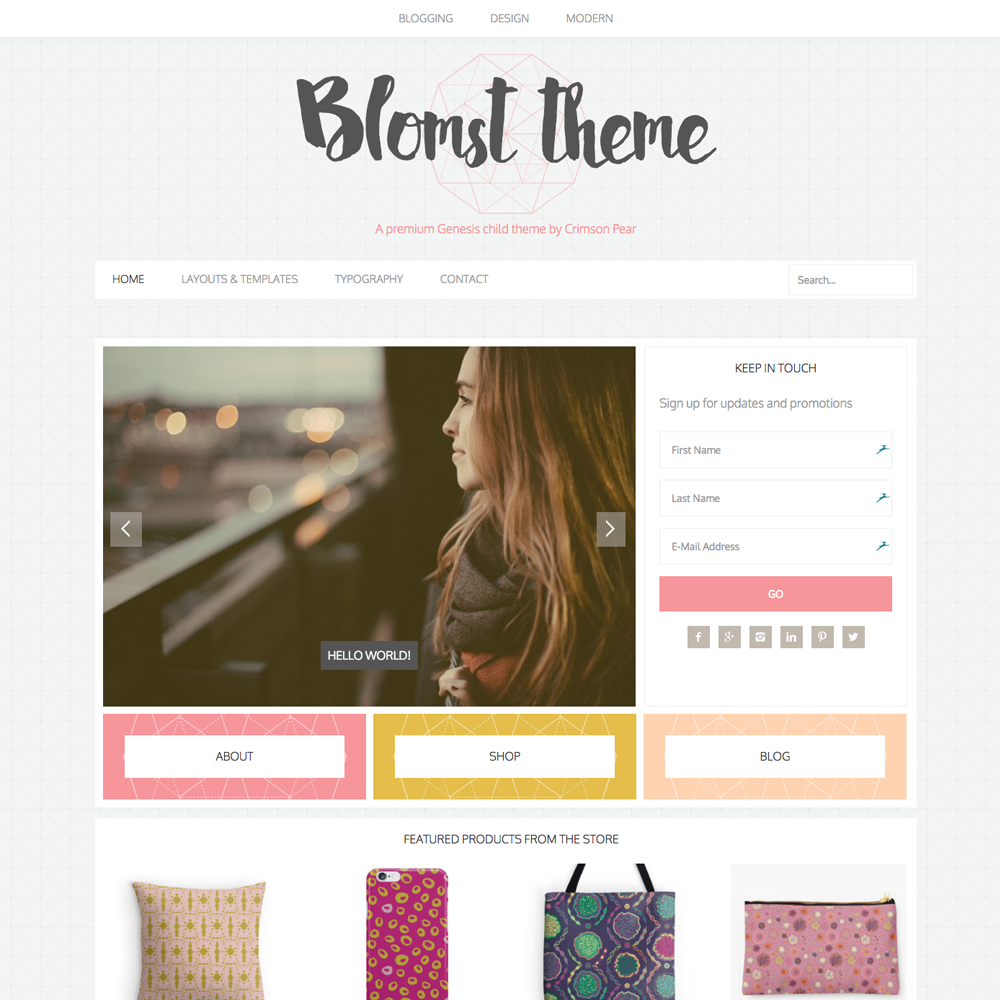 Blomst eCommerce Genesis child theme